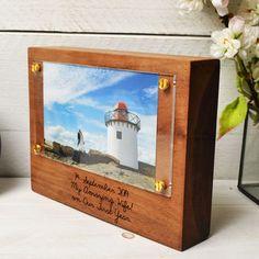 Personalised Wood Photo Block With Acrylic Frame