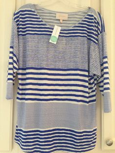 Cute and casual for summer nights. I have white pants that would pair great with this one Stitch Fix April 2015 Skies are Blue Savi Knit Top