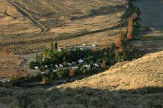 Where am I? Campground, sagebrush, cactus, train, grasslands, Thompson River.