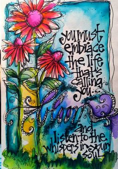 art journaling, art journal pages, embrace quotes, altered art, altered b Art Journal Pages, Art Journals, Kunstjournal Inspiration, Art Journal Inspiration, Journal Ideas, Journal Quotes, Doodle Art, Brainstorm, Altered Art
