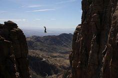 Kurt Haston highlining in Tucson AZ