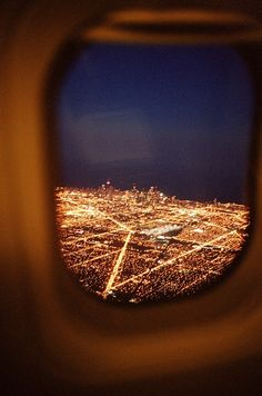The feeling of landing or taking off when it's dark, this is how I first saw London, that sight is breathtaking