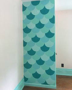 mermaid bedroom decor. Mermaid scales accent wall  Toddler girl room Get inspired to create an unique bedroom for little girls with