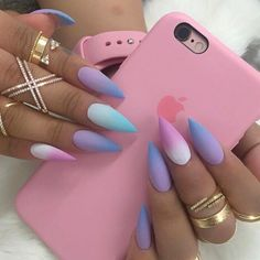 A manicure is a cosmetic elegance therapy for the finger nails and hands. A manicure could deal with just the hands, just the nails, or Acrylic Nail Designs, Nail Art Designs, Acrylic Nails, Coffin Nails, Matte Stiletto Nails, Pointed Nails, Nails Design, Easter Nails, Easter Color Nails