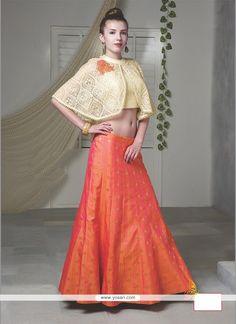 Baronial Raw Silk Embroidered Work Designer Lehenga Choli Model: YOLEN2671