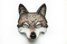 The Brown Wolf Animal Mask Papier Mache Festival Mask Fancy Dress Masquerade…