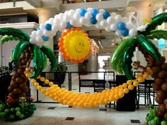 Image result for camp theme balloon decor