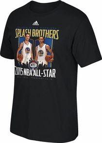 Golden State Warriors adidas Splash Brothers All-Star Tee - Black