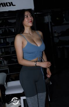 Girls In Leggings, Tight Leggings, Cute Asian Girls, Hot Girls, Sporty Outfits, Beautiful Asian Women, Asian Fashion, Get Dressed, Asian Woman