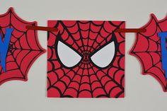 Spiderman Birthday Banner Superhero Banner Paper Party