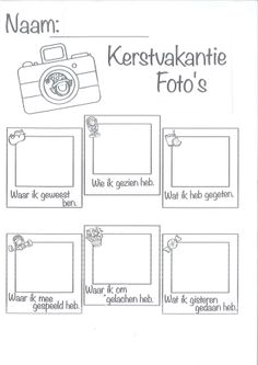 Taal: kerstvakantie praten. Activities For Kids, Crafts For Kids, 21st Century Skills, Beginning Of The School Year, Portfolio, Creative Words, Teaching English, Spelling, Coloring Pages
