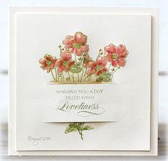 #Rapport från ett skrivbord: Soft colors | #Penny_Black Floral Fusion #Birgit (cards4, birgit)