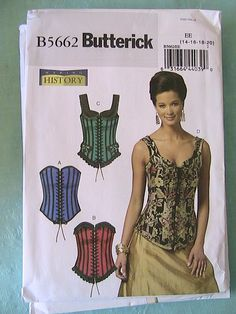 STEAMPUNK CORSET sewing patterns~ have