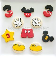 Mickey Mouse cookies - Kookie Kreations by Kim