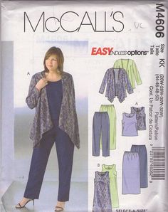 f850e8f7594 MOMSPatterns Vintage Sewing Patterns - McCall s 4606 Discontinued 2004  Sewing Pattern Plus Size Easy Endless Options