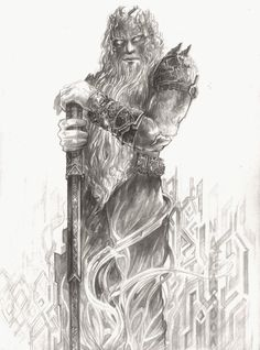 Aulë: Father of the Dwarves. Still waiting for about the dozen movies necessary to cinematize the Silmarillion.