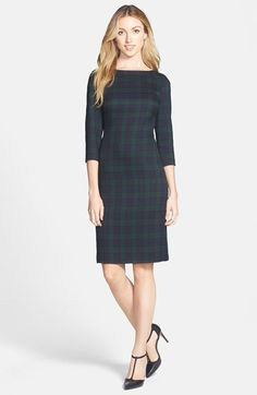 Anne Klein Plaid Sheath Dress available at #Nordstrom