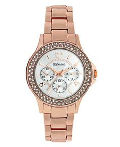 Style Watch, Women's Rose Gold Tone Bracelet SC1273 - Women's Watches - Jewelry & Watches - Macy's