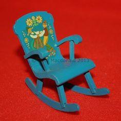 Vintage Dolls House Lundby Rocking Chair | eBay