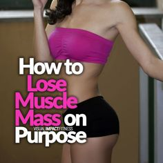 Many people do want to slim down beyond just losing body fat. Here's how to lose muscle mass on parts of the body that are bulkier than you would like. Muscle Mass, Gain Muscle, Build Muscle, How To Lose Muscle, Workout Plan For Men, Workout Plans, Workout Men, Workout Routines, Workout Videos