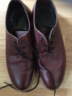 RIVER ISLAND BLOOD RED LEATHER SHOES SIZE 7 - VGC! #RiverIsland #Laceup