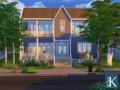 A nice family home for 4 sims and a dog or cat. Enjoy. Found in TSR Category 'Sims 4 Residential Lots'