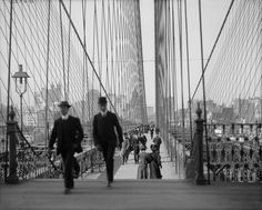 The Brooklyn Bridge is such a fun way to get out, exercise & see New York. Turns out that others have had the same idea for over a century! This picture is from 1905. But the view today is still as magnificent as ever!