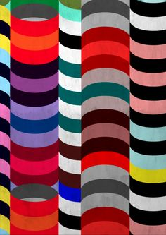 Bridget Riley stacked curves