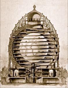 """""""Élisée Reclus 1830-1905 & Louis Bonnier 1856-1946 Shrine to the Earth for the Exposition Universelle in Paris...1900"""""""