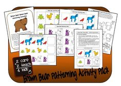 i like the brown bear pdf take home activity. i'd add that to our brown bear week!