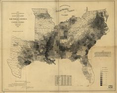 "5: United States Coast Survey, ""Map Showing the Distribution of the Slave Population of the United States"" (1861) [Library of Congress] 