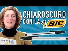 Tecnica del CHIAROSCURO CON LA PENNA BIC - Tutorial Disegno 5 - YouTube