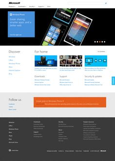 Microsoft.com website gets a new design Windows Phone, Best Web, News Design, Helping People, Microsoft, Design Inspiration, App, Website, Technology