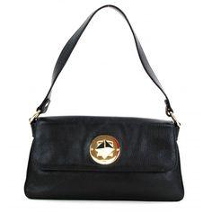 Kate Spade Black Leather Turnlock Shoulder Bag