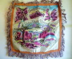 Vintage Pikes Peak Souvenir Fringed Throw by LifeOnArborLane, $12.00