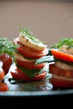 stacked salad.