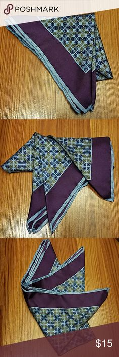 Men's Barbara Blank Pocket Square Barbara Blank pocket square. Hand rolled, 100% silk. Used a few times but still in good shape. Dry clean only. Barbara Blank  Accessories Pocket Squares