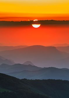Sunset in Balkan Mountains, Bulgaria