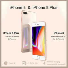 Cheap Cellphones, Buy Quality Cellphones & Telecommunications Directly from China Suppliers:Unlocked New Original Apple iPhone Plus TouchID LTE iOS Camera New Iphone 8, Iphone 8 Plus, Apple Iphone, Iphone 8 Features, Nouvel Iphone, Ios, Smartphone Price, Apple Model, Iphone Accessories
