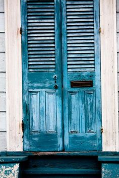 Love old doors, love the color!!!