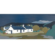 Margots Cottage High Corrie, Isle of Arran Margot Sandeman the incredible artist lived and worked in High Corrie which was and still is a creative enclave. Isle Of Arran, West Coast Scotland, Landscape Artwork, Limited Edition Prints, Gouache, Barn Wood, My Images, Giclee Print, Original Paintings