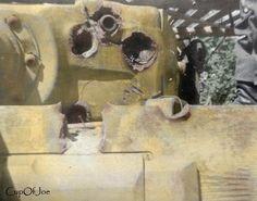 Tiger 1 Tank Gun Mantlet Penetration | Colorized by CupOfJoe… | Flickr