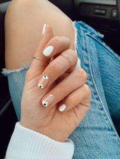 130 cute nail art designs ideas to try this year 1 Summer Acrylic Nails, Spring Nail Art, Cute Acrylic Nails, Pastel Nails, Spring Nails, Summer Nails, White Gel Nails, Shellac Nail Art, Best Gel Nail Polish