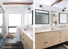 Simo Design in Los Angeles midcentury remodeled bathroom, Remodelista