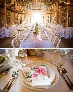 Una boda celebrada en un antiguo granero