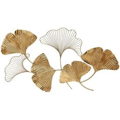 Lend an added dash of mid-century glam to your living space with the Sagebrook Home Petal Wall Decor . Crafted from metal in gold, this wall accent. Wall Decor Set, Metal Wall Decor, Home Wall Decor, Gold Walls, Metal Walls, Flower Petals, Illustration Art, Drawings, Artwork