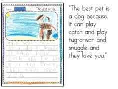 Opinion Writings for Kindergarten