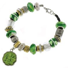 Jade Jewelry | Green Jade Chinese Large Hole Bead Bracelet