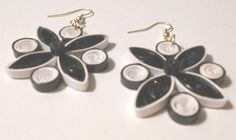 Black and White handmade paper earrings Wearable art Quilling Jewelry, Paper Jewelry, Paper Earrings, Drop Earrings, Black And White Earrings, Wearable Art, Originals, Handmade, Ebay