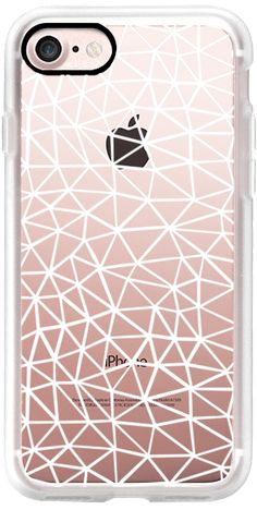 Casetify iPhone 7 Classic Grip Case - Seg R White Transparent by Project M #Casetify